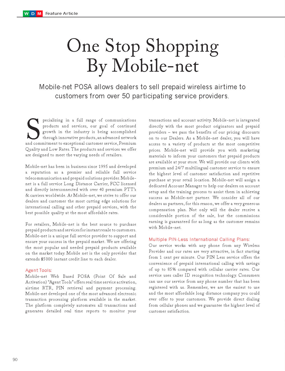 One Stop Shopping By Mobile-net | Featured Distributors