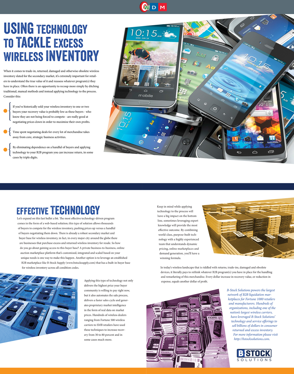 B Stock Solutions using technology to tackle excess wireless inventory